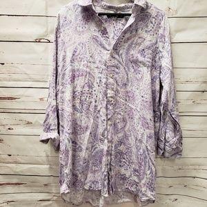 Ralph Lauren polo purple night gown button up xl